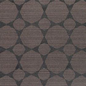 Octagon - Noire - Octagon print hard wearing fabric in very dark grey, and very dark brown which has streaks of cream running through it