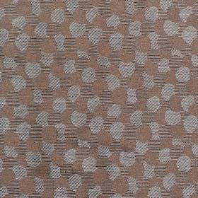 Aero - Duck Egg - Hard wearing fabric printed with a pattern of small, overlapping circles in plain brown, brown stripes and grey stripes