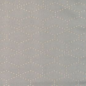 Honeycomb - Duck Egg - Hexagons made of small cream dots printed on a grey hard wearing fabric background