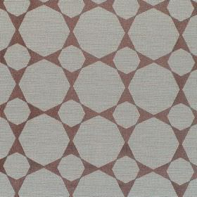 Octagon - Duck Egg - Plain grey octagons printed on a dusky red-pink hard wearing fabric background