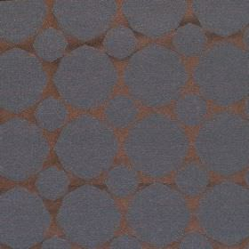 Octagon - Midnight - Hard wearing fabric in a shiny brown colour, with a design of matt dark blue octagons