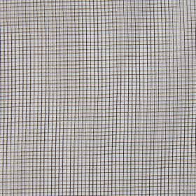 Mesh - Bronze - A thin, simple black and dark grey mesh on a background of white hard wearing fabric