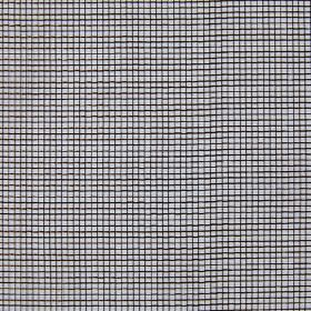 Mesh - Walnut - Grid print hard wearing fabric with a simple black pattern on a grey background