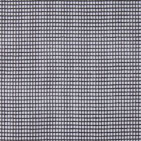 Gauze - Graphite - Light grey hard wearing fabric printed with a simple black grid design