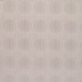 Spectrum - Stone - Cream coloured hard wearing fabric with a circle print created by bulging grey stripes