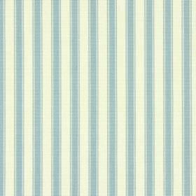 Cotswold - Slate - Fabric made from striped cotton, with a regular design in light blue and very pale grey-cream