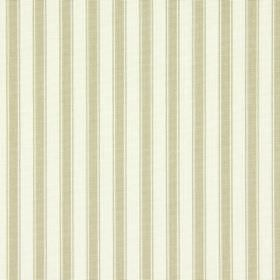Cotswold - Oatmeal - Cream and beige fabric made from cotton, with an even, regular striped design