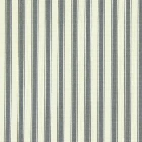 Cotswold - Charcoal - Regular grey stripes interspersed with white, and made into a cotton fabric