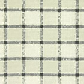 Fairford - Charcoal - Similar shades of beige checked with very dark grey to make this fabric in cotton