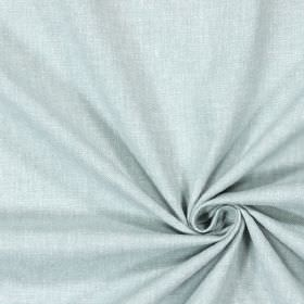 Abbey - Azure - Fabric which has been woven diagonally with thin white and light grey threads