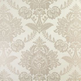 Devonshire - Sable - Fabric featuring a large design which is ornate and floral in style, in two different shades of grey