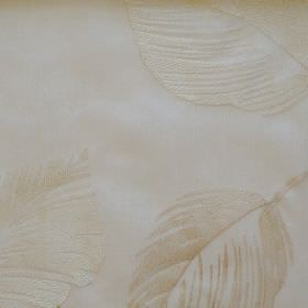 Rambling - Natural - Leaf impressions on deep natural white fabric