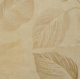 Ramble - Oyster - Leaf impressions on oyster white fabric