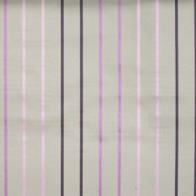 Tuxedo - Viola - Viola purple and light pink stripes on light grey fabric