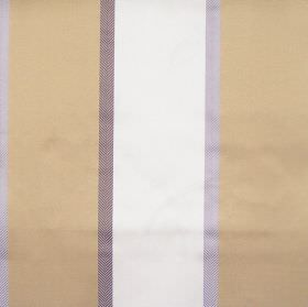 Tiara - Heliotrope - Heliotrope purple and gold striped fabric