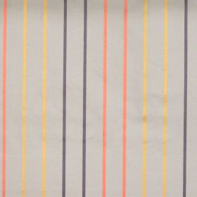 Tuxedo - Amber - Amber orange stripes on dark grey fabric