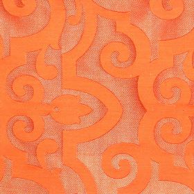 Bijou - Amber - Amber orange fabric with classic swirly pattern