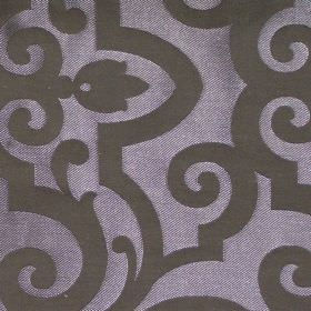 Bijou - Roulette - Dark purple fabric with classic swirly design