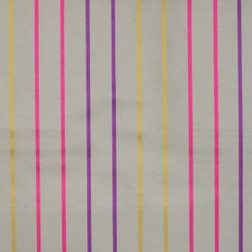 Tuxedo - Martini - Martini pink, purple and yellow stripes on light grey fabric
