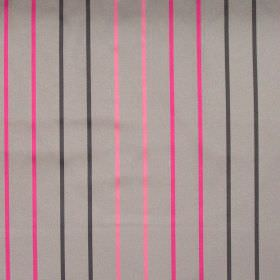 Tuxedo - Roulette - Roulette pink stripes on grey fabric