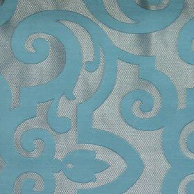 Bijou - Breeze - Breeze blue fabric with classic swirly design