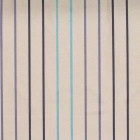 Tuxedo - Breeze - Breeze blue stripes on pearl white fabric