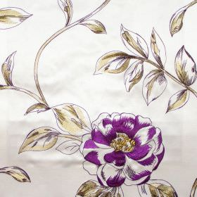 Couture - Martini - Martini pink flowers on white fabric