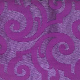 Bijou - Viola - Viola purple fabric with classic swirly pattern