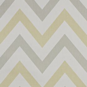 Jazz - Soda - Very pale shades of grey and beige making up a horizontal zigzag pattern on fabric made from 100% cotton