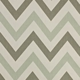 Jazz - Aqua - Three different shades of grey making up a horizontal zigzag pattern on fabric made entirely from cotton