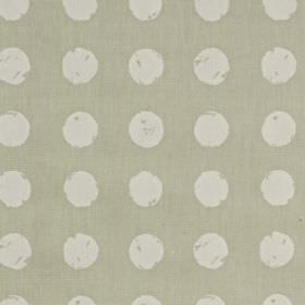 Zero - Linen - Fabric made from 100% cotton with a roughly printed polka dot pattern in two different light shades of grey