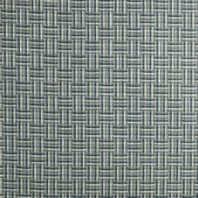 Grassington - Aquamarine - 100% polyester fabric patterned with an unusual woven style pattern in very pale grey, blue-grey and navy colours