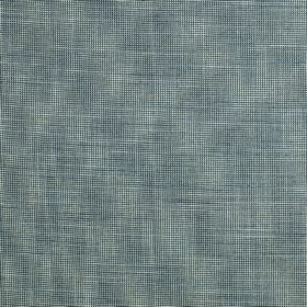 Skipton - Aquamarine - Patchily coloured pale grey and denim blue coloured fabric made from 100% polyester, woven with a few white threads