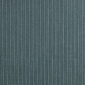 Gargrave - Aquamarine - Vertically striped fabric made from 100% polyester, featuring a simple, subtle design in 2 similar shades of denim b