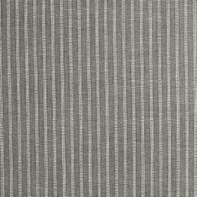 Gargrave - Charcoal - Narrow iron grey and silver-grey coloured stripes running down 100% polyester fabric in a simple, versatile design