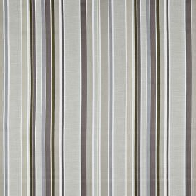 Sidmouth - Parchment - Vertically striped 100% cotton featuring bands of uneven widths in various different shades of grey