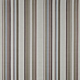 Sidmouth - Sable - Various light and dark shades of grey, with some dusky blue, making up a vertical stripe design on 100% cotton fabric