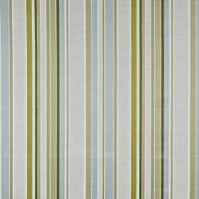 Sidmouth - Willow - Fabric made from 100% cotton with a vertical stripe design in light shades of blue, grey and green