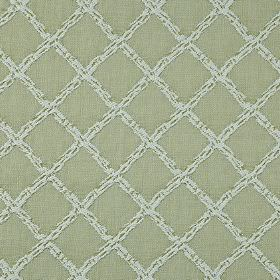 Charlbury - Willow - Putty coloured 100% cotton fabric featuring a grid pattern in very pale grey, patterned with small, subtle dark flecks