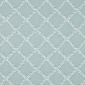 Charlbury - Sky - A subtly flecked grid pattern covering 100% cotton fabric in two very similar pale shades of blue