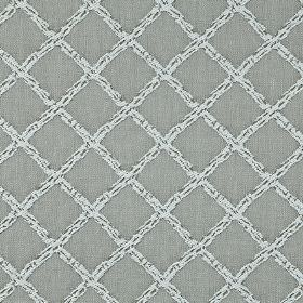 Charlbury - Sterling - A pale silvery grey coloured, subtly flecked grid pattern covering steel grey coloured 100% cotton fabric