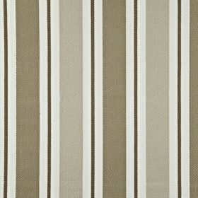 Canford - Stone - White, light grey and darker grey-brown making up a vertical stripe pattern on 100% cotton fabric