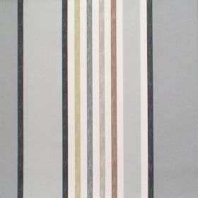 Minster - Onyx - Onyx black and grey striped fabric
