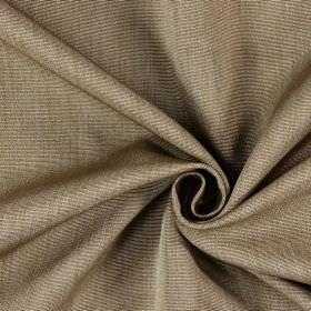 Sweet Dreams - Tobacco - Fabric which is hard wearing, with horizontal striped ridges in brown and cream