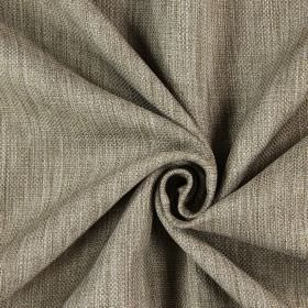 Star - Hemp - Streaked, woven, hard wearing fabric in brown and cream