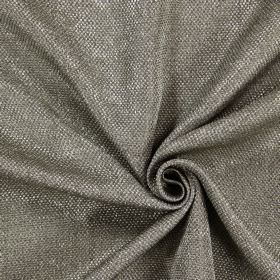 Night Time - Zinc - Thick threads woven into a dark grey-brown and white coloured hard wearing fabric