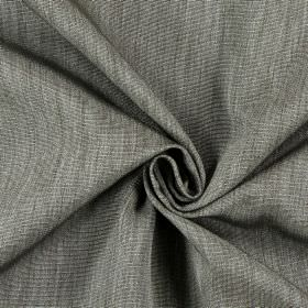 Sweet Dreams - Dusk - Hard wearing fabric in grey-brown and cream, with thin, horizontal ridges