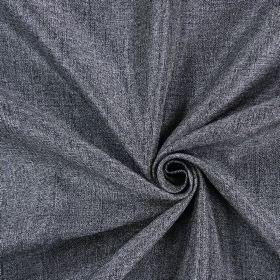 Moonbeam - Anthracite - Denim blue and white woven hard wearing fabric