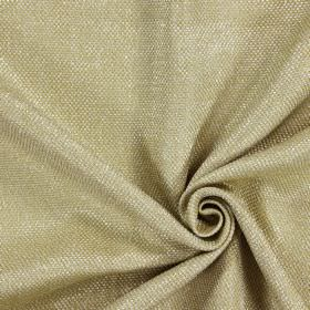 Night Time - Vellum - Swatch of green-gold and white woven hard wearing fabric which has been woven with thick threads