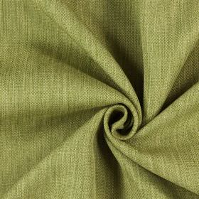 Star - Evergreen - Light green and cream streaked hard wearing fabric which has been made using threads of different thicknesses